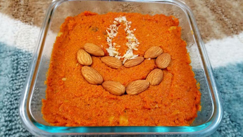 Gajar-Carrot Halwa Indian Dessert Diwali
